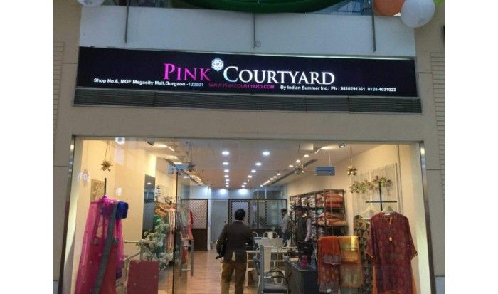 Pink Courtyard by Indian Summer Inc.